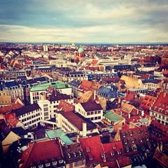 Strasbourg roofs. Alsace, France.