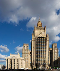 Ministry of Foreign Affairs building in Moscow, Russia