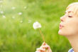 Woman with dandelion - 65092473