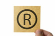 R 登録商標マーク アイコン Trademark copyright