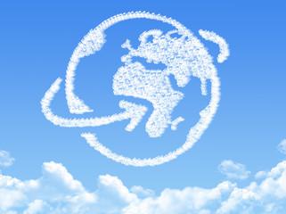 Globe earth  shaped cloud