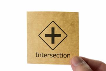 交差点 アイコン intersection
