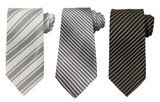 Fototapety Set of three ties isolated on white