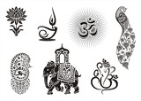 Icons, Hinduism ,cultural heritage , India , Asia poster