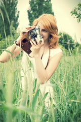 girl and a camera
