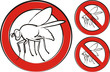 housefly - warning sign