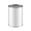 White Blank Tincan Metal Tin Can, Canned Food - 65094404
