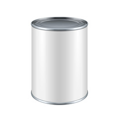 White Blank Tincan Metal Tin Can, Canned Food
