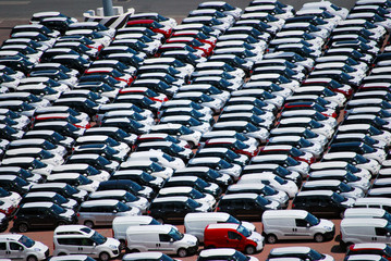 Cars awaiting sale