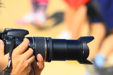 運動会を撮るカメラ