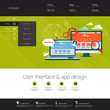 Flat design modern vector illustration concept of website