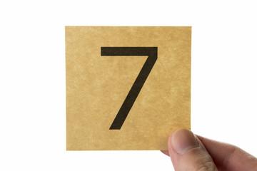 数字 7 アイコン number seven