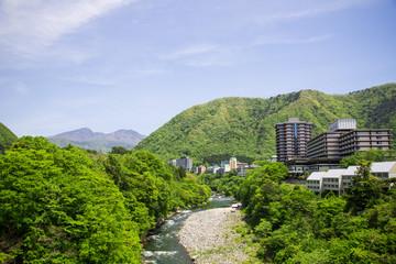 鬼怒川温泉の新緑