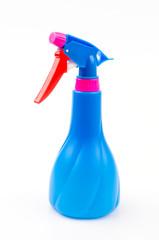 Spray bottles isolated white background