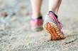 Walking or running legs, sports shoe