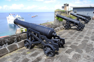 Cannons in St George's Fort Grenada