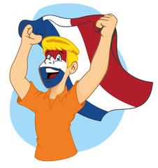 Dutch supporter vibrating