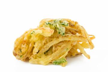 かき揚げ Japanese fried food 白背景