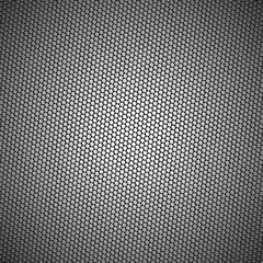 Honeycomb mesh background with text