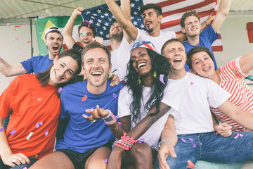 American Supporters at Stadium