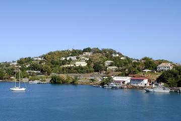 Castries harbour St Lucia