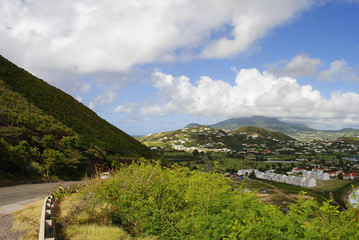St Kitts south coast Caribbean
