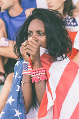 Worried American Supporters at Stadium