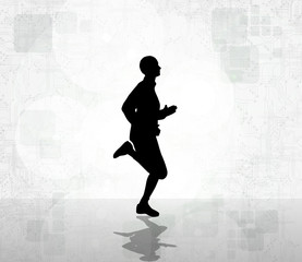 Marathon runner. Vector
