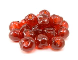 Sticky glace cherries