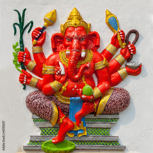 """God Of Success. Indian Style Or Hindu God Ganesha Avatar"