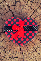 Heart Shape Gift Box on the Tree