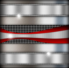 silver background of metal texture illustration