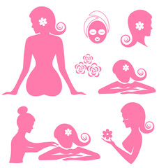 Spa woman  vector