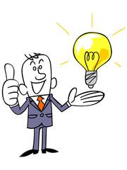 ビジネスマンとアイデア