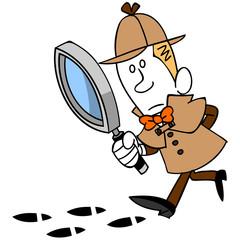 探偵と足跡