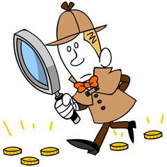 探偵とコイン