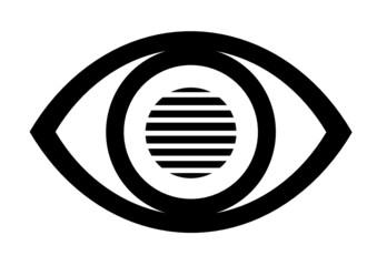Eye icon with horizontal line effect