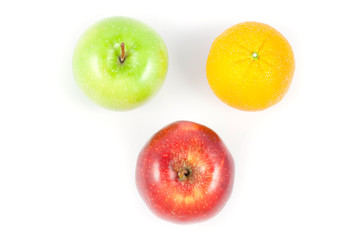 top side apple and orange