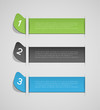 abstract banners with option steps, design template