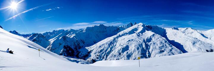 panoramique Alpes Paysage de montagne