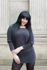 woman wearing mini dress