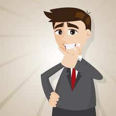 cartoon handsome businessman