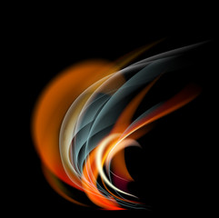 Burn flame fire  abstract background