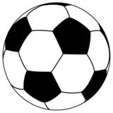 black-white fooball - simple vector illustration - 65109251