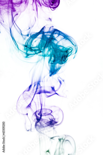 Deurstickers Rook Colored smoke