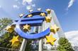 Famous euro sign in Frankfurt am Main