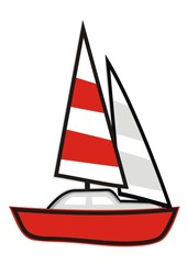 sail - red