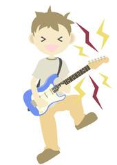 エレキギターを弾く人 騒音