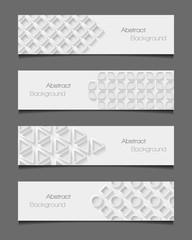 Set of abstract modern style banners