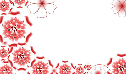 abstract background with beautiful colored flower pattern